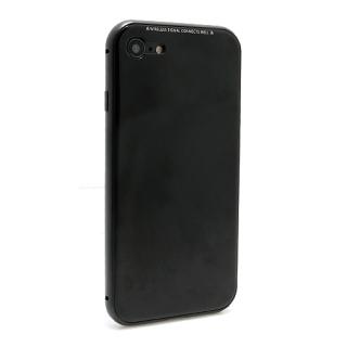 Futrola Magnetic Glass Frame za Iphone 7/Iphone 8 crna