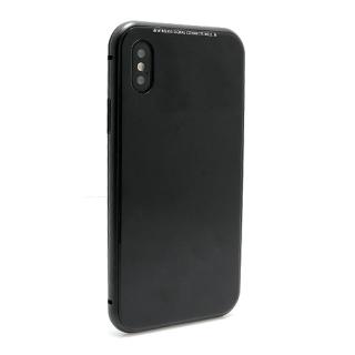Futrola Magnetic Glass Frame za Iphone X crna