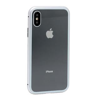 Futrola Magnetic frame za Iphone X srebrna