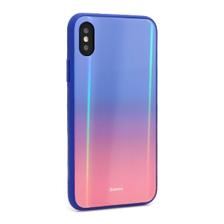 Futrola BASEUS Laser Luster za Iphone X/ Iphone XS plavo-crvena