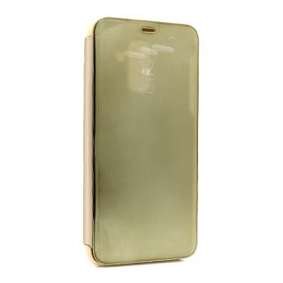 Futrola BI FOLD CLEAR VIEW za Samsung A605G Galaxy A6 Plus 2018 zlatna