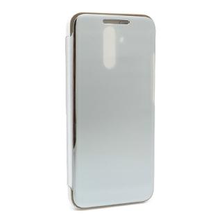 Futrola BI FOLD CLEAR VIEW za Huawei Mate 20 Lite srebrna
