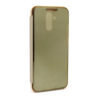 Futrola BI FOLD CLEAR VIEW za Huawei Mate 20 Lite zlatna