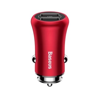 Auto punjac BASEUS Gentlement 2 USB/4.8A crveni