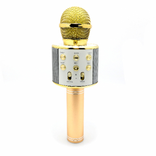 Mikrofon 858 Bluetooth zlatni