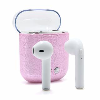 Slusalice I7S BT za Iphone 7/8/X sa punjacem roze