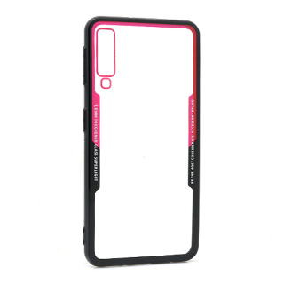 Futrola BACK CLEAR za Samsung A750F Galaxy A7 2018 crno-crvena