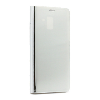 Futrola BI FOLD CLEAR VIEW za Samsung A730F Galaxy A8 Plus srebrna