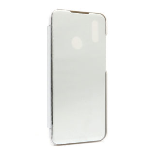 Futrola BI FOLD CLEAR VIEW za Huawei Honor 10 Lite/P Smart 2019 srebrna