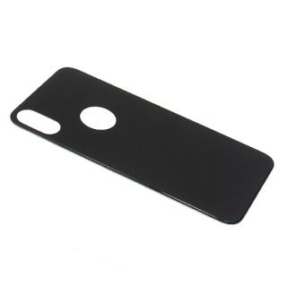 Folija za zastitu ekrana GLASS 5D za Iphone X crna back