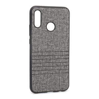 Futrola silikon Embossed za Huawei P20 Lite siva