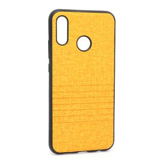 Futrola silikon Embossed za Huawei P20 Lite svetlo narandzasta