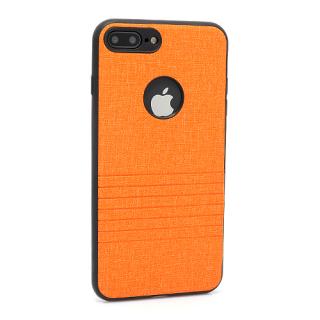 Futrola silikon Embossed za Iphone 7 Plus narandzasta