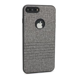 Futrola silikon Embossed za Iphone 7 Plus siva