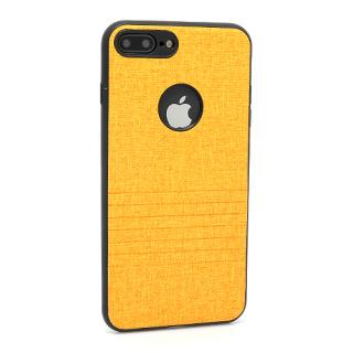Futrola silikon Embossed za Iphone 7 Plus svetlo narandzasta