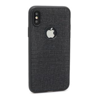Futrola silikon Embossed za Iphone X crna