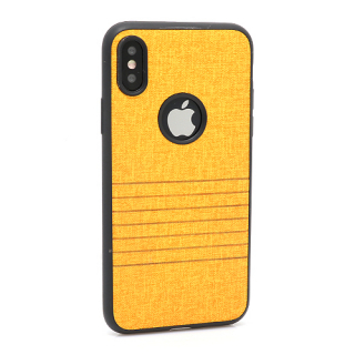 Futrola silikon Embossed za Iphone X svetlo narandzasta