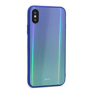Futrola BASEUS Laser Luster za Iphone X/Iphone XS plavo-zelena