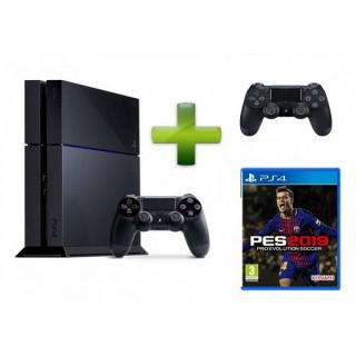 SONY Playstation Konzola PS4 500GB + DS4 + PES 2019