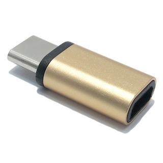 Adapter metalni sa micro na type C zlatni