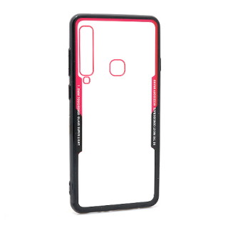 Futrola BACK CLEAR za Samsung A920F Galaxy A9 2018 crno-crvena