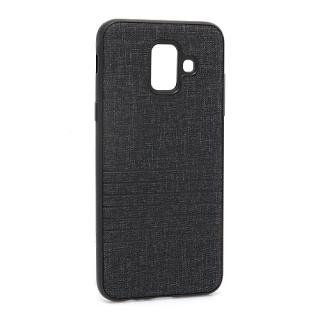 Futrola silikon Embossed za Samsung A600F Galaxy A6 2018 crna