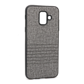Futrola silikon Embossed za Samsung A600F Galaxy A6 2018 siva