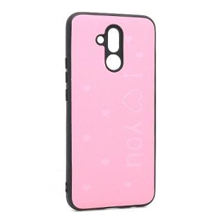 Futrola I LOVE YOU za Huawei Mate 20 Lite roze