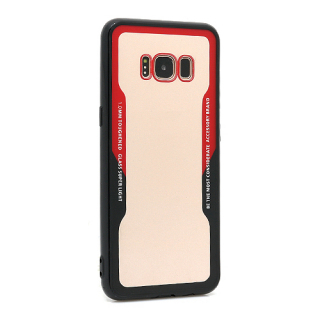 Futrola BACK CLEAR za Samsung G950F Galaxy S8 crno-crvena
