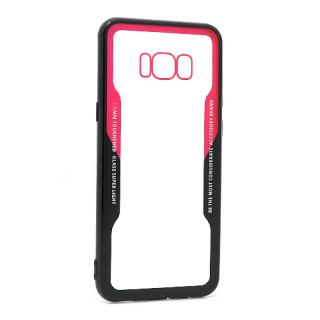 Futrola BACK CLEAR za Samsung G955F Galaxy S8 Plus crno-crvena