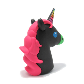 Power Bank EMOJI 2200mAh unicorn crno-pink