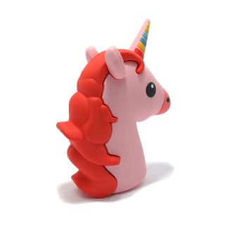 Power Bank EMOJI 2200mAh unicorn roze-crveni