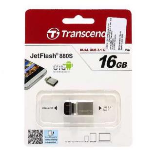 Transcend OTG flash memorija 16GB USB-Micro srebrna