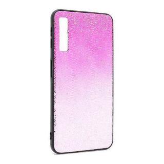 Futrola Glittering New za Samsung A750F Galaxy A7 2018 pink-srebrna