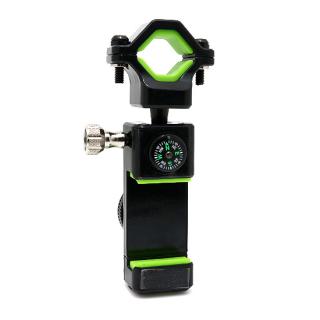 Drzac za mobilni telefon Q003 za bicikl sa svetlom i kompasom crno-zeleni