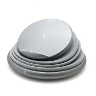 Bezicni punjac (Wi-Fi) sa led svetlom sivi
