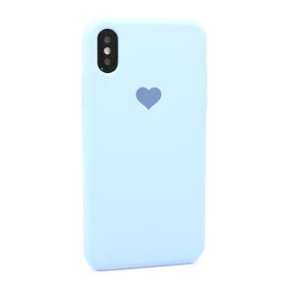 Futrola Heart za Iphone X/Iphone XS svetlo plava