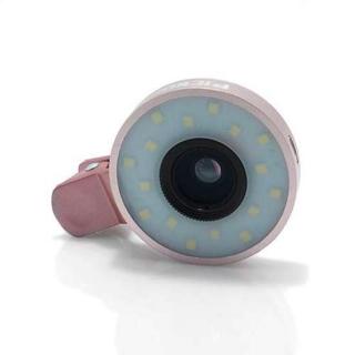 Univerzalno socivo/objektiv za mobilni telefon HE-055 4/1 LED roze