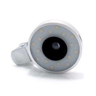Univerzalno socivo/objektiv za mobilni telefon HE-055 4/1 LED srebrno