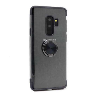Futrola MAGNETIC RING CLEAR za Samsung G965F Galaxy S9 Plus crna