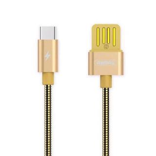 USB data kabal REMAX TINNED COPPER RC-080a type C zlatni 1.2m