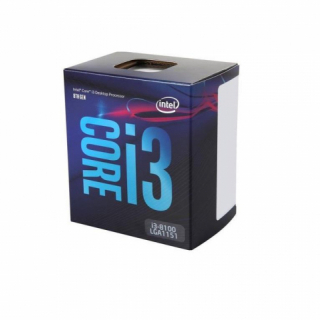 CPU Intel Core i3, i3-8100 (3.6GHz, 6MB, LGA1151) Coffee Lake, UHD 630, 14nm, BOX