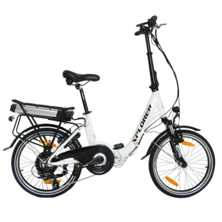 Xplorer City Vibe 20 incha električni bicikl beli