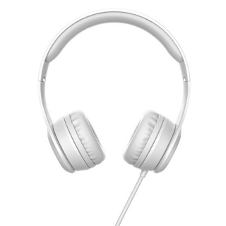 W21 Graceful charm wire control headphones Grey