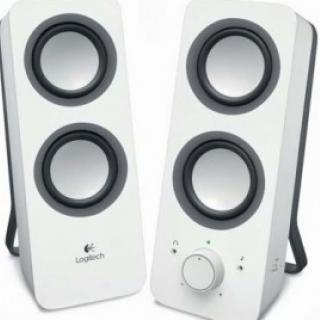 Logitech Z200 Stereo Speakers, 2.0 System Snow white