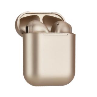 Slusalice Bluetooth Airpods InPods 12 metalic zlatna