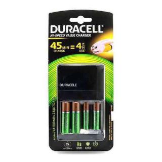Baterije NiMh punjive 1.2V AA 1300mAh x 2 + 1.2V AAA 750 mAh x 2 + punjac CEF 14 Duracell
